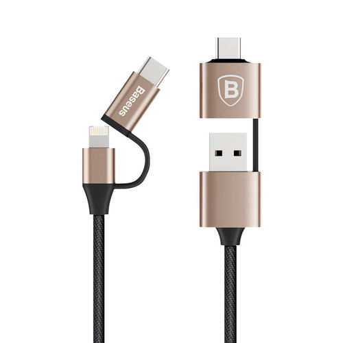 Baseus 5-in-1 iPhone / iPad / Android / Micro USB / Type-C Gold Cable